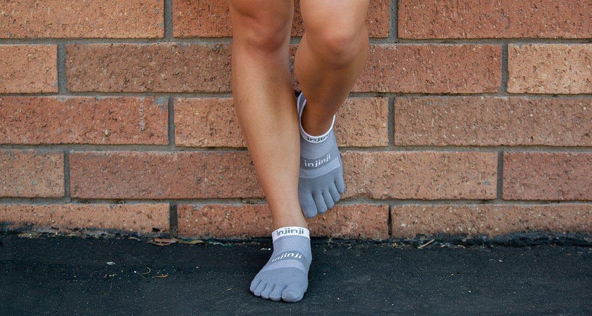 Injinji Run Midweight No-Show Socks