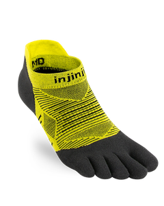 Injinji Run Lightweight No-Show Noir Toesocks