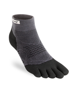 Injinji Run Original Weight Mini-Crew Black Toesocks