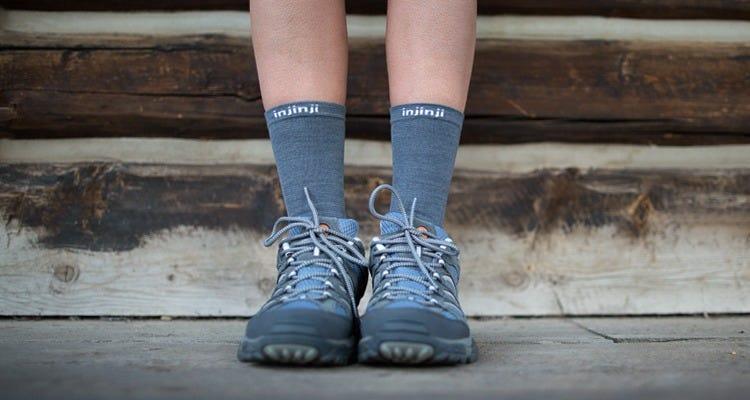 Injinji Liner Crew NuWool Charcoal Socks