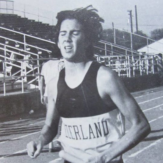A Young Dave Dial Running