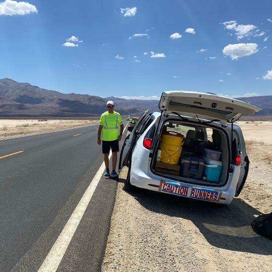 Jonathan's crew van loaded with supplies