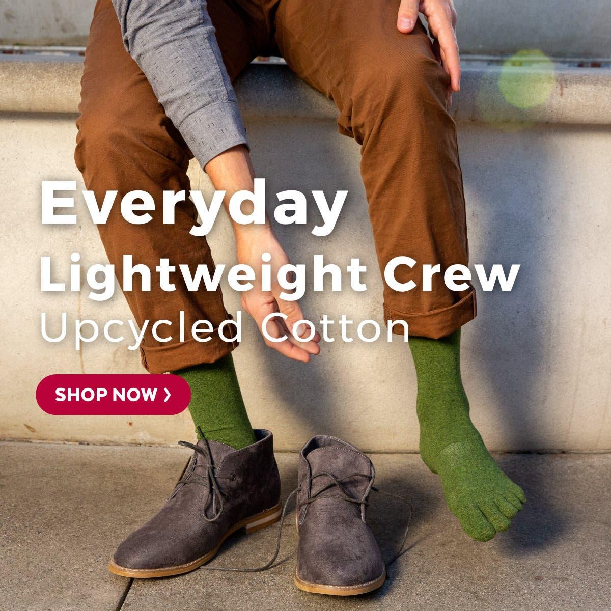Everyday Lightweight Crew Upcycled Cotton